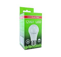 LED Лампа Euroelectric A60 12W E27 4000К