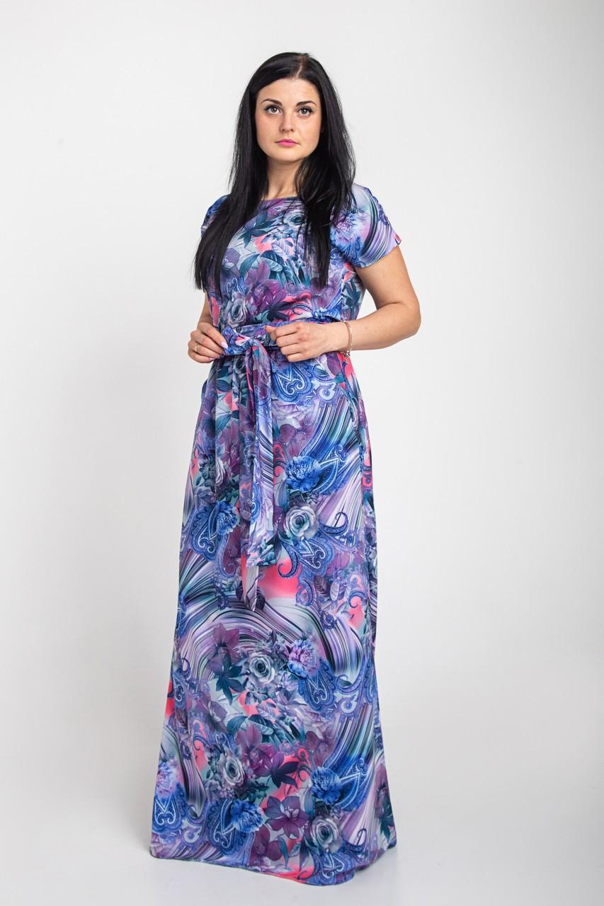 Длинное платье в пол размеры 44-64р