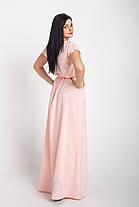 Однотонное длинное платье в пол размеры 44-64р, фото 3