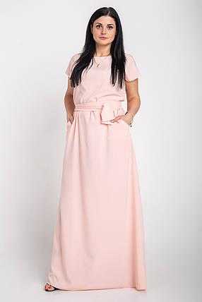 Однотонное длинное платье в пол размеры 44-64р, фото 2