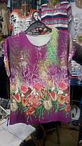 Женская стильная футболка большого размера, фото 3