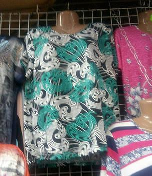 Жіноча стильна футболка великого розміру, фото 2
