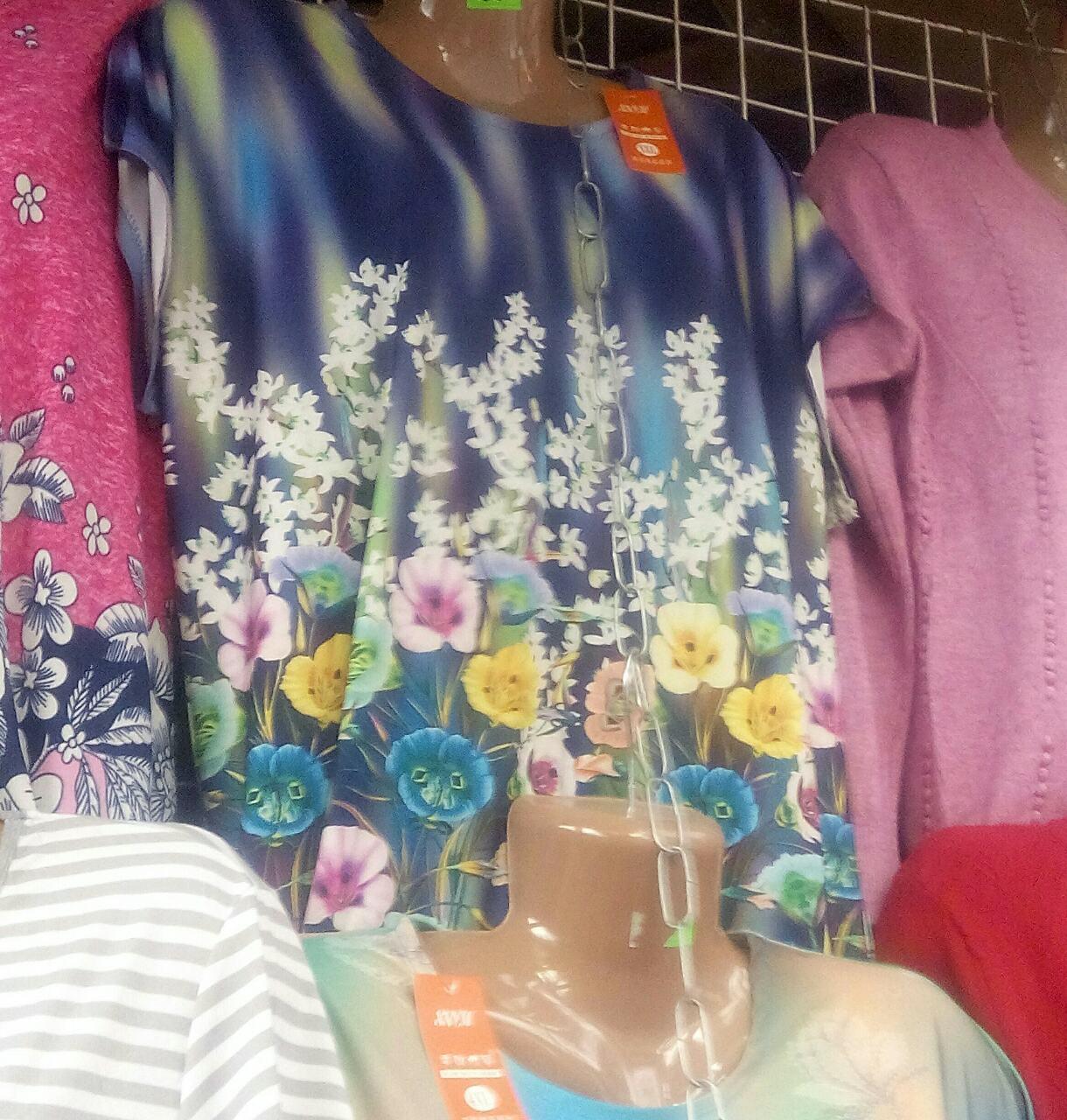 Женская стильная футболка большого размера