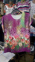Жіноча стильна футболка великого розміру, фото 3