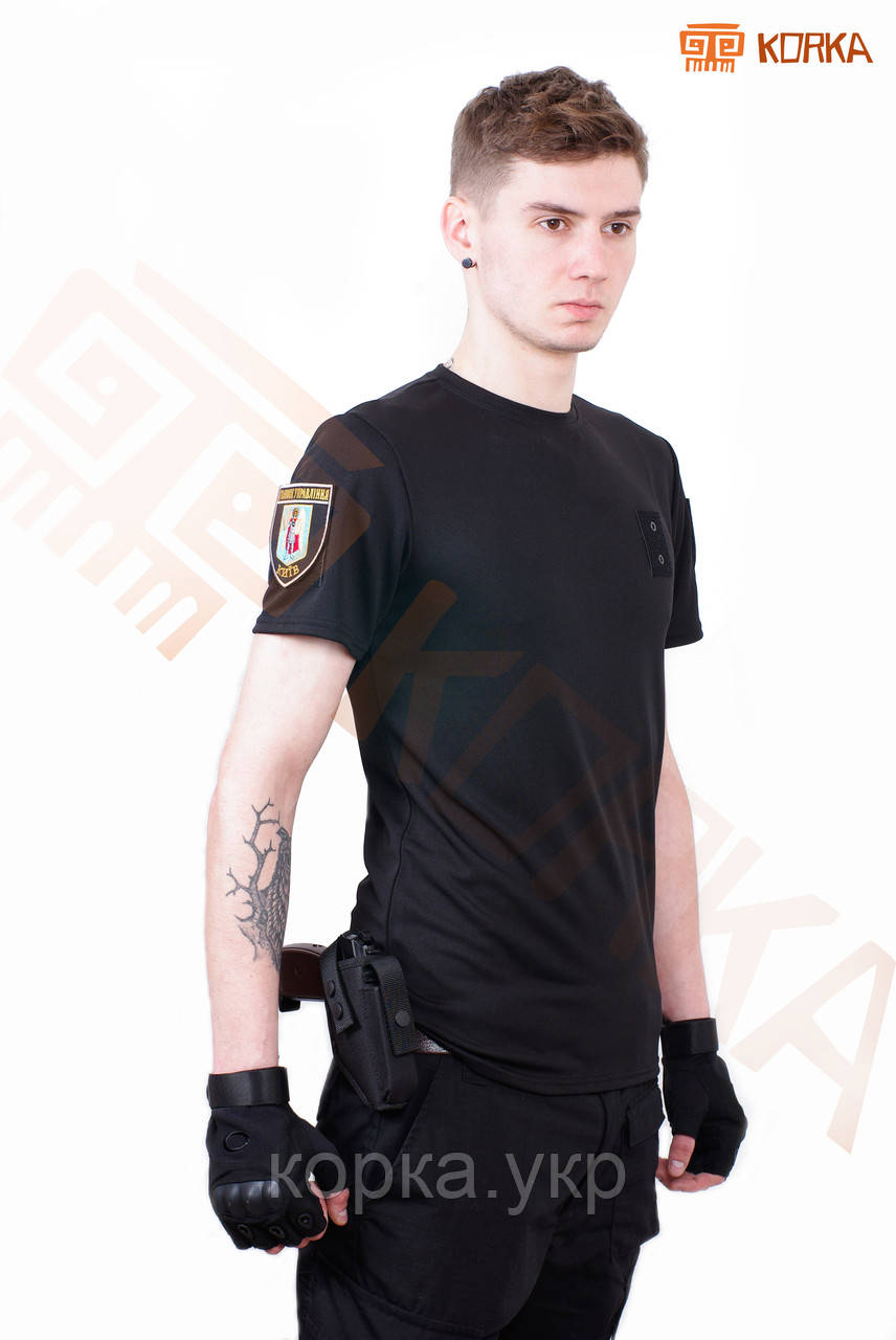 Футболка CoolMax Полиция Черная