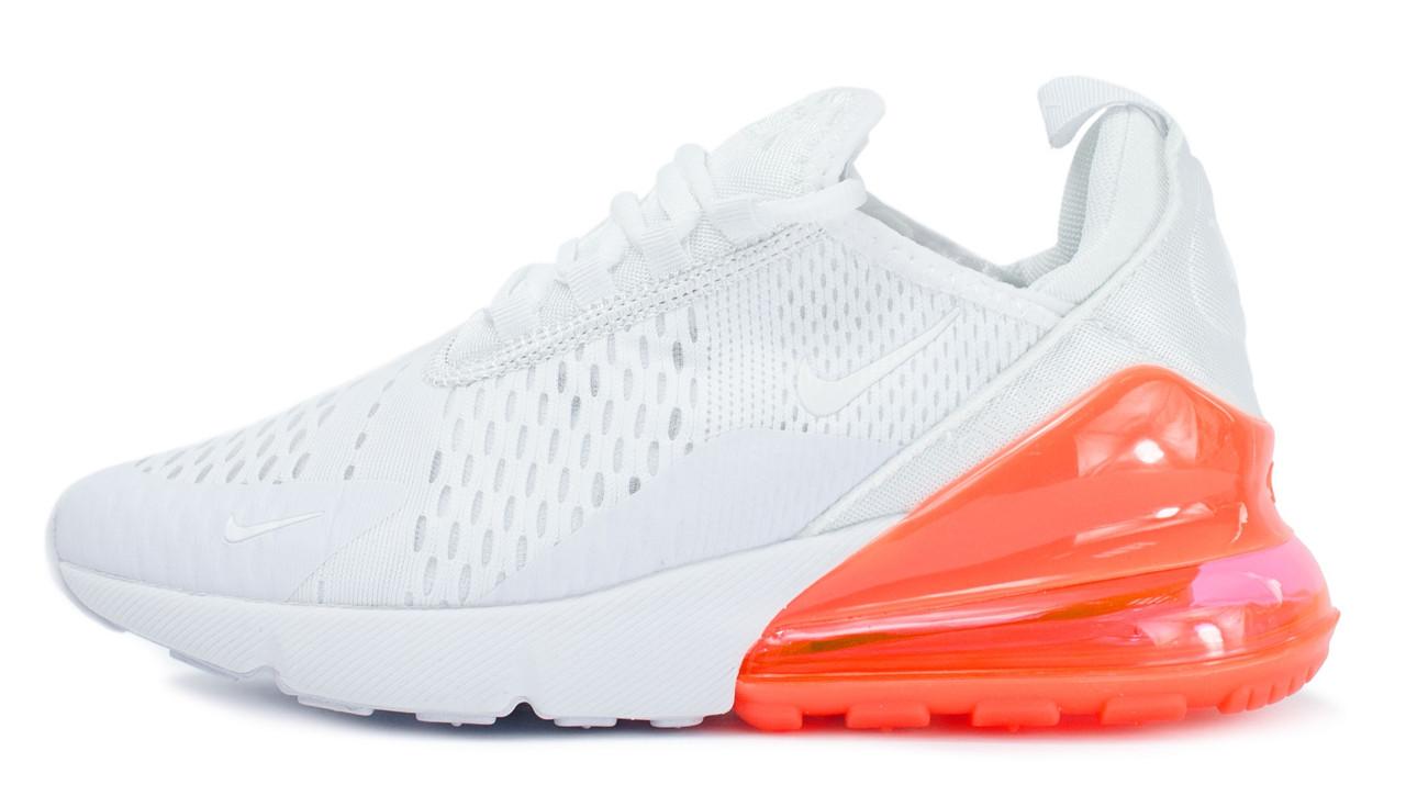 b7ea6634 Женские кроссовки Nike Air Max 270 White Orange (найк аир макс 270, белые /