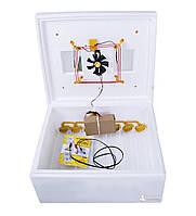 Автоматический инкубатор для яиц «Теплуша 220/12В» на 63 яйца с ТЭНом и цифровым терморегулятором + влагомер