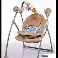 Шезлонг Alexis-Babymix SW102RC (latte) с пультом ДУ