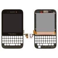 Дисплей Blackberry Q5, черный, с сенсорным экраном, с передней панелью