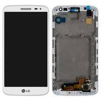 Дисплей LG D620 G2 mini, белый, с сенсорным экраном, с передней панелью, Original (PRC)