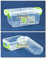 """Ємність (відро) харчова 0,3 л 13,6х8,6х5,5см пластикова з ручками і кришкою """"Minilux"""" Ал-Пластик (Україна), фото 1"""