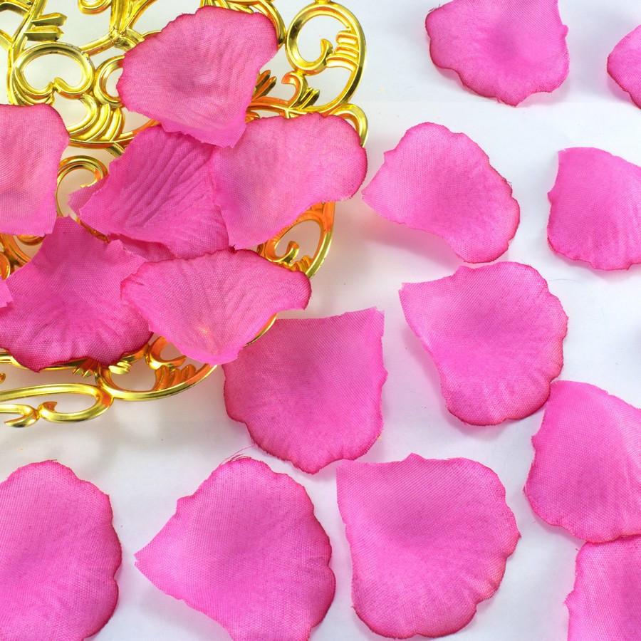 (≈140шт) Лепестки роз, искусственные Цена за упаковку Цвет - ярко-розовый