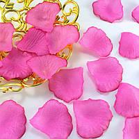 (≈140шт) Лепестки роз, искусственные Цена за упаковку Цвет - ярко-розовый, фото 1