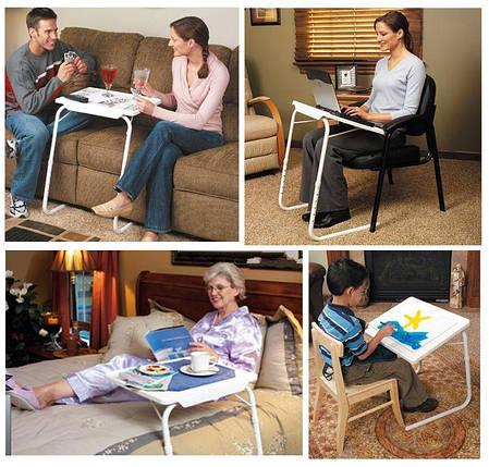 Столик складной прикроватный Table Mate 2 трансформер удобный столик на колени, фото 2