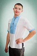 Вышиванка мужская с коротким рукавом | Вишиванка чоловіча з коротким рукавом, фото 1