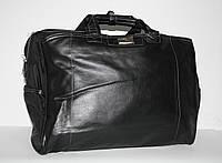 Сумка дорожная, саквояж черный Refiand на 42,5 литров PU кожа