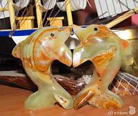 2 Дельфина из оникса (7см)