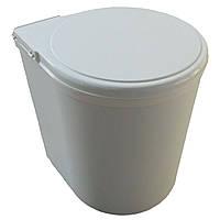 Встраиваемое кухонное ведро Indaux (Италия) белый пластик 13 литров
