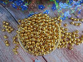 Жемчуг искусственный, 8 мм, цвет золото, 10 грамм (~40 шт).