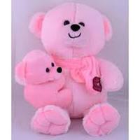 Мягкая игрушка Медведь с ребенком 35см №30074 (розовый),мягкие медведи,подарки для любимых девушек,отличные