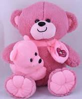 Мягкая игрушка Медведь с ребенком 35см №30074 (сирень),мягкие медведи,подарки для любимых девушек,отличные
