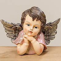 Статуэтка Ангелочек цветной полистоун l21см 1009402