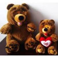 Мягкая игрушка озвученая медведь №2124-28,мягкие медведи,подарки для любимых девушек