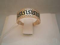 Женское золотое кольцо 585 пробы с эмалью
