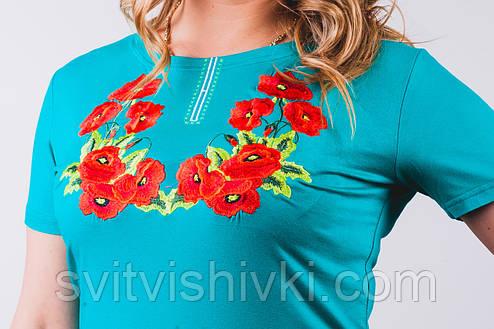 Женская вышитаю футболка опт и розница, фото 2