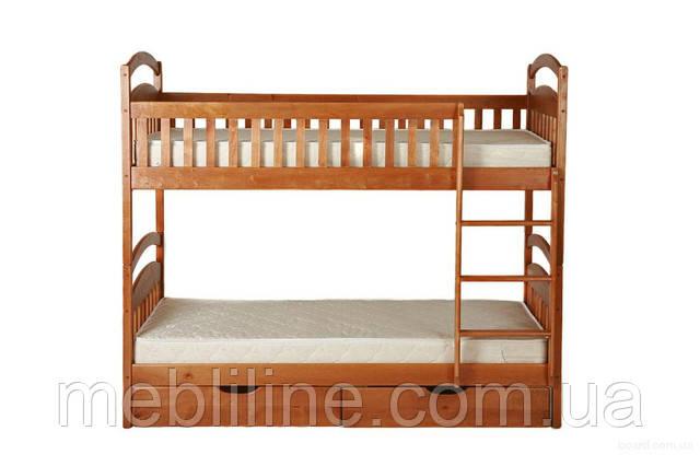 двухъярусная кровать из дерева карина