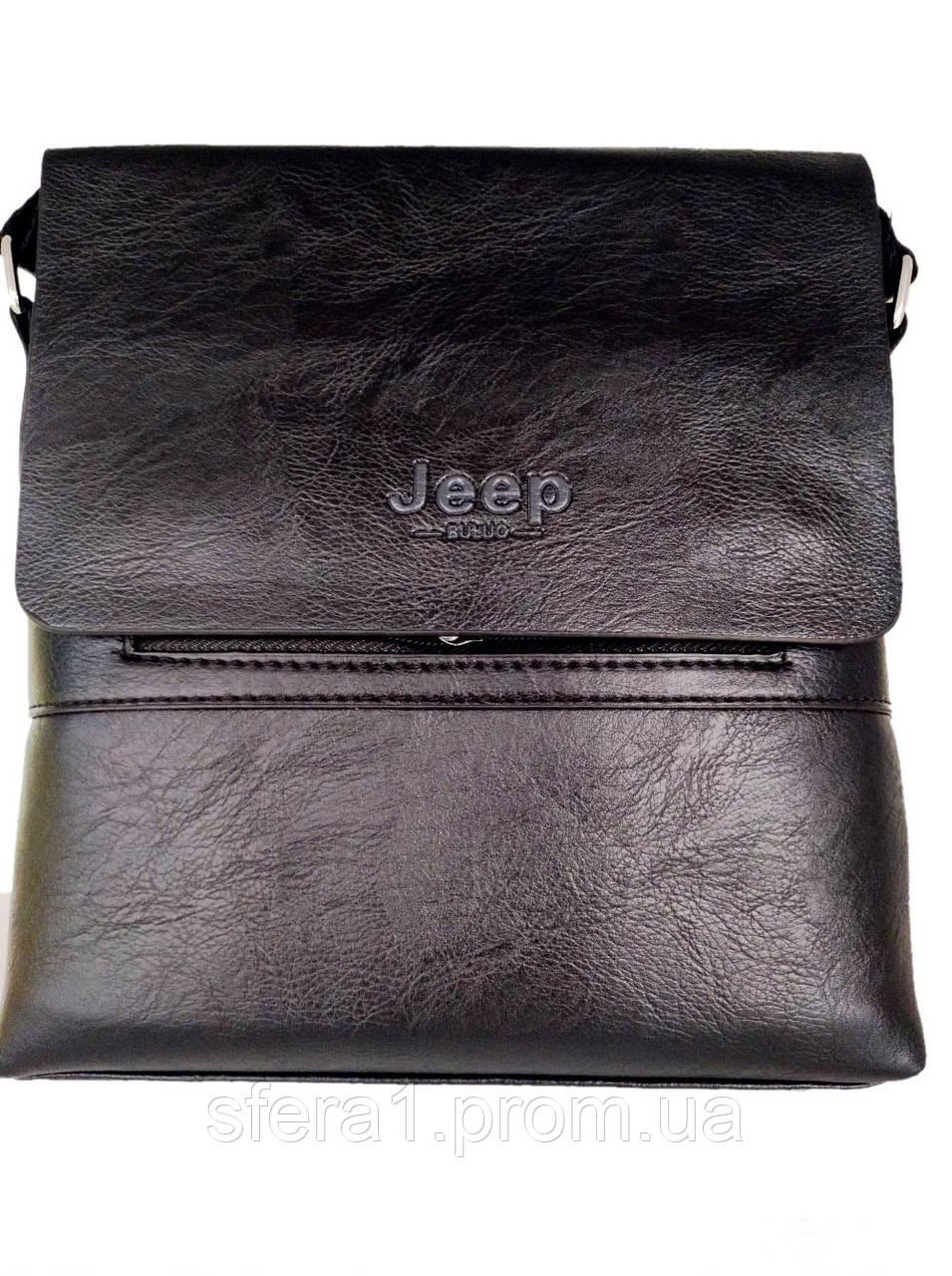 98fcdfa06361 Мужская сумка Jeep Buluo 9008 ЧЕРНАЯ, Новинка - Интернет - магазин
