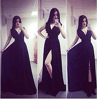 Платье в пол разрез РК161, фото 1