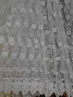 """Тюль  органза """"Цветы"""" 157, фото 1"""