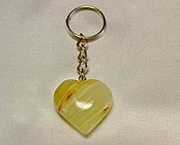 Брелок Сердце из натурального камня Оникс