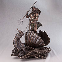 Статуэтка Veronese Посейдон, бог морей 35 см 71068 A4