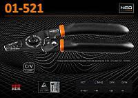 Клещи для зачистки проводов 0,34-6,0мм²., NEO 01-521