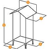Вольер для канареек и мелких птиц NOTA FERPLAST (Ферпласт), 76,5 x 57 x h 161,5 cм, фото 3