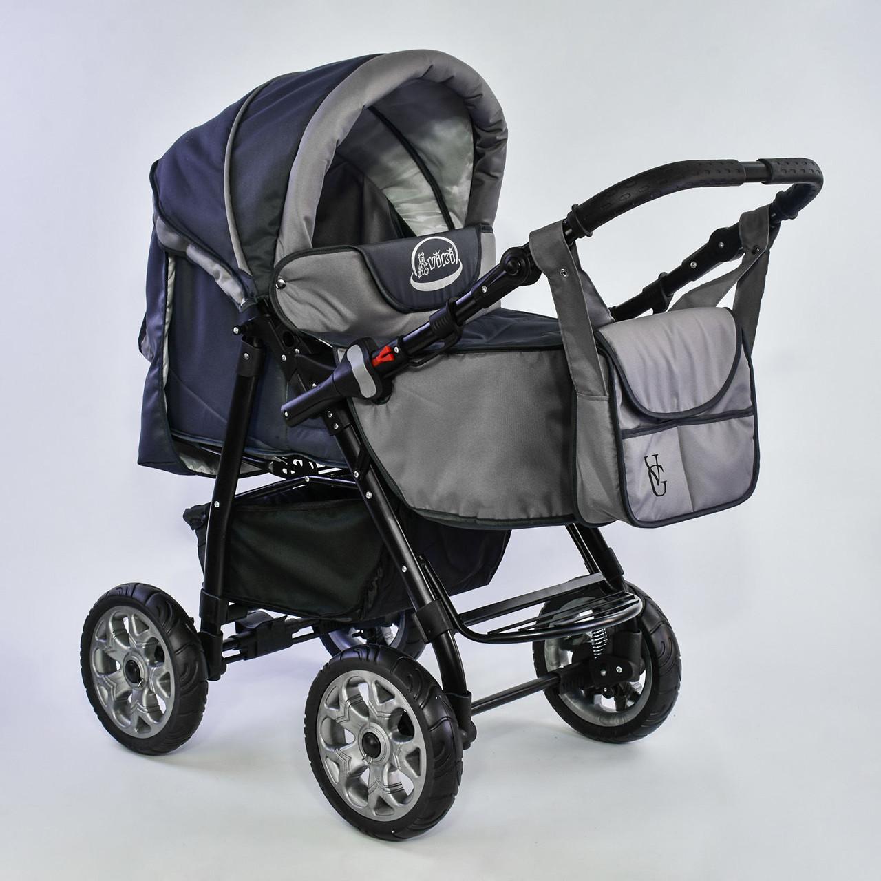 Детская коляска-трансформер Viki 86- С 91 Серая Гарантия качества Быстрая доставка