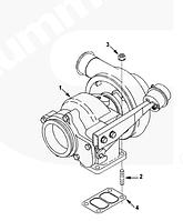 4041405, 4045212, 4955252, 4045213 Турбокомпрессор (Турбина) Holset HX40W на двигатель Cummins, Куминс, Каминс