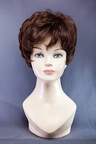 Короткие парики №3,цвет каштан с яркой краснинкой