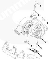 4039630, 4033282, 4955479 Турбокомпрессор (Турбина) Holset на двигатель Cummins, Куминс, Каминс QSB