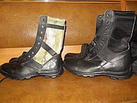 Ботинки с высокими берцами с тканевой вставкой