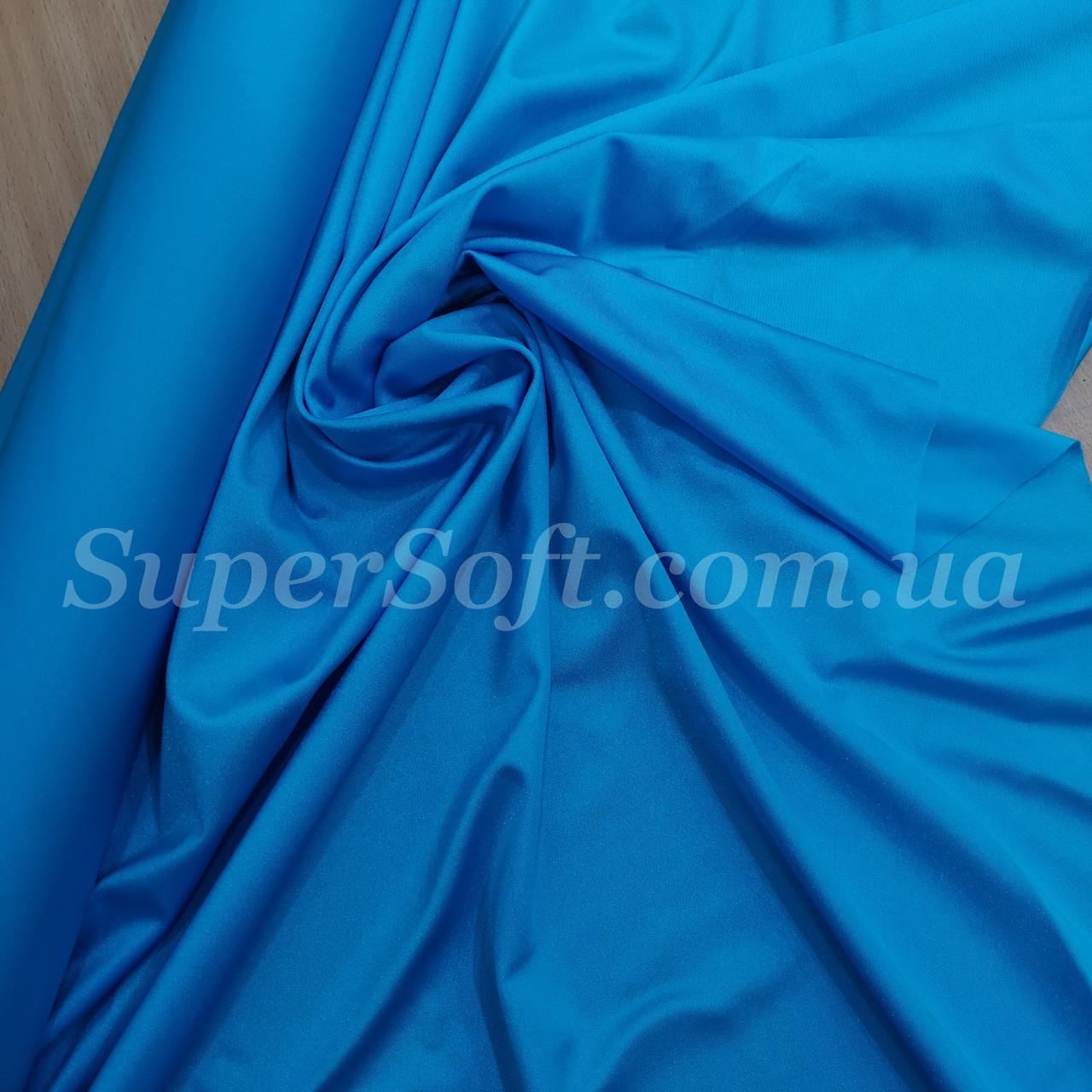 Трикотаж бифлекс блестящий голубая бирюза