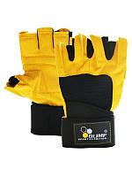 Перчатки HARDCORE RAPTOR Yellow-black РАЗМЕР M