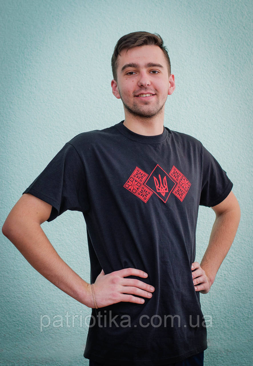Вышитая футболка мужская | Вишита футболка чоловіча