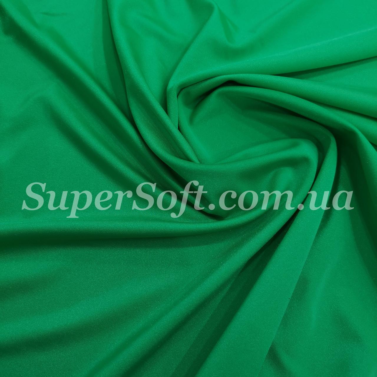 Трикотаж бифлекс блестящий зеленый