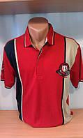 Мужская футболка-поло ETTE-спорт c вышитым гербом на груди