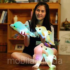 Дельфин плюшевая игрушка с светодиодной подсветкой