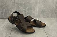 Босоножки StepWey 1075 (лето, мужские, натуральная кожа, коричневый)