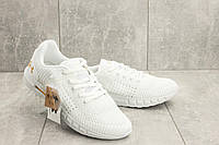 Мужские кроссовки текстильные весна/осень белые Ditof A 1076 -6